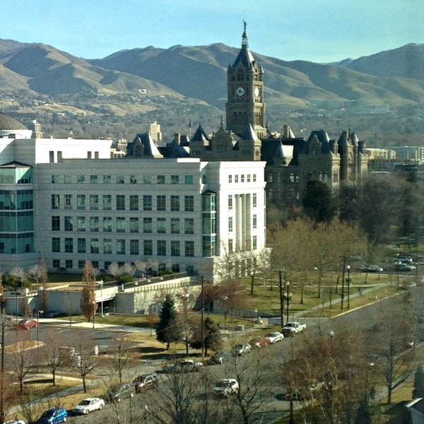Hotel view SLC temple