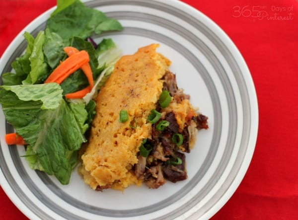 Make this tamale pie meal in the crockpot for an easy and flavorful dinner!