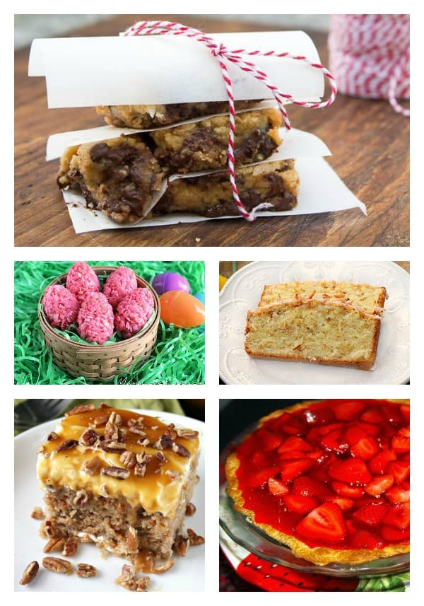 Easter desserts collage 2