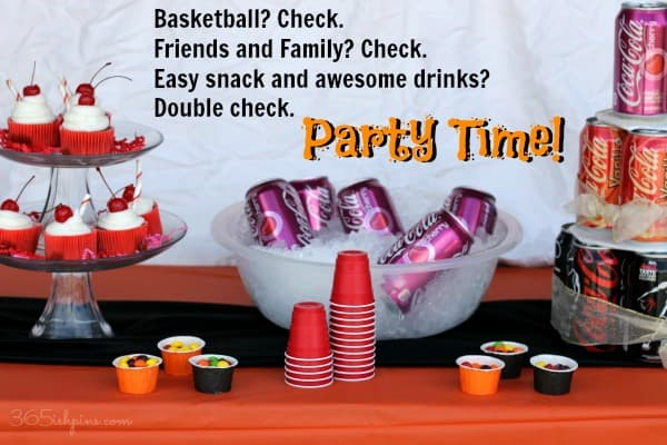 Host an easy basketball party with Cherry Coke Cupcakes and Coca-Cola NCAA® Final Four Pack available at Walmart.