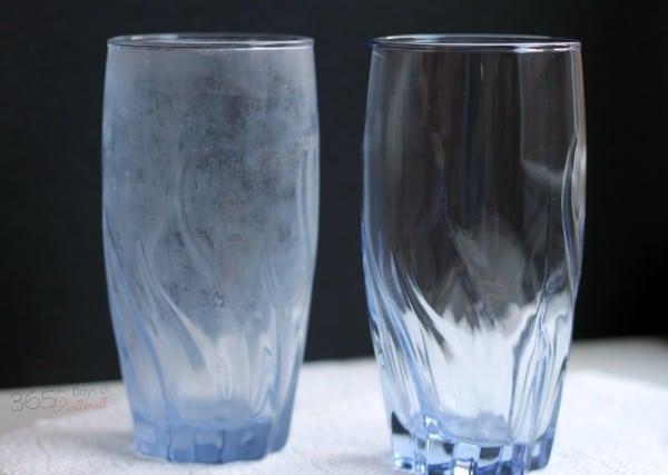 cloudy glass clean glass