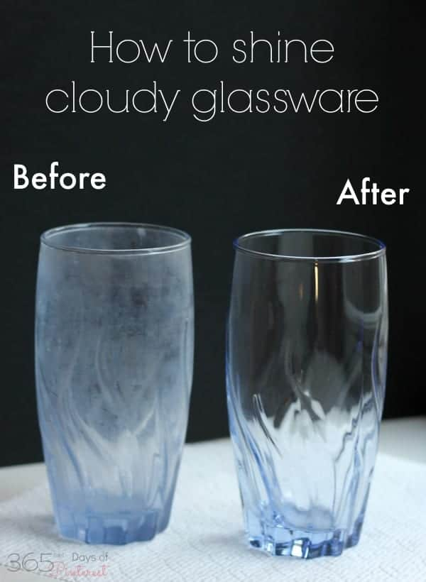 how to clean and shine cloudy glassware