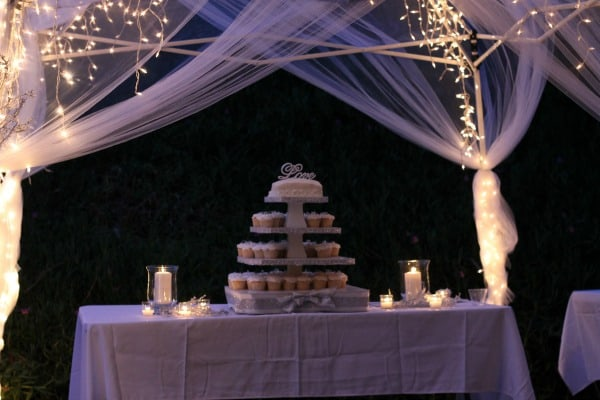 cake table drape