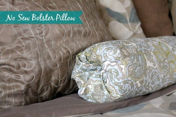 no sew bolster pillow