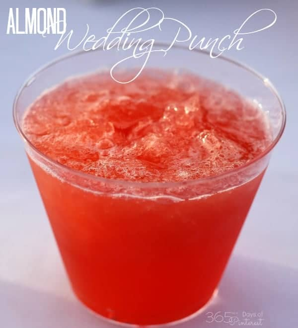 Sugar Free Punch For Baby Shower: Almond Wedding Punch