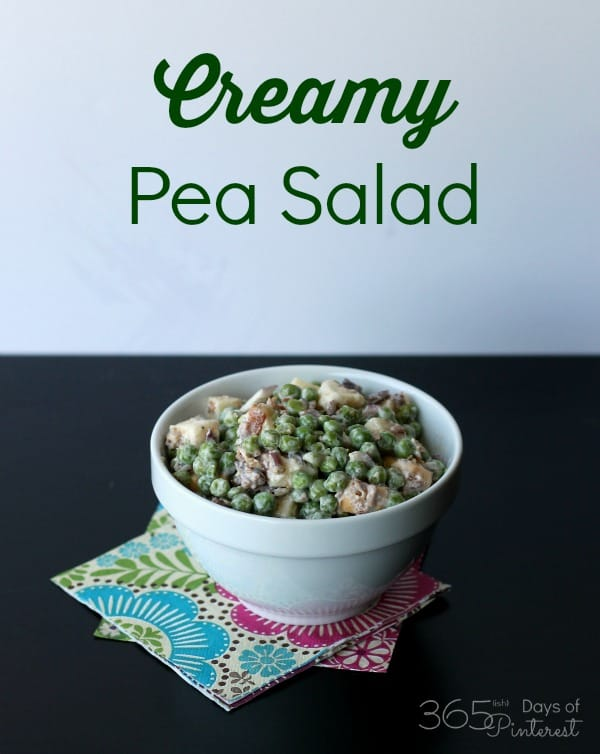 creamy pea salad pot luck side dish