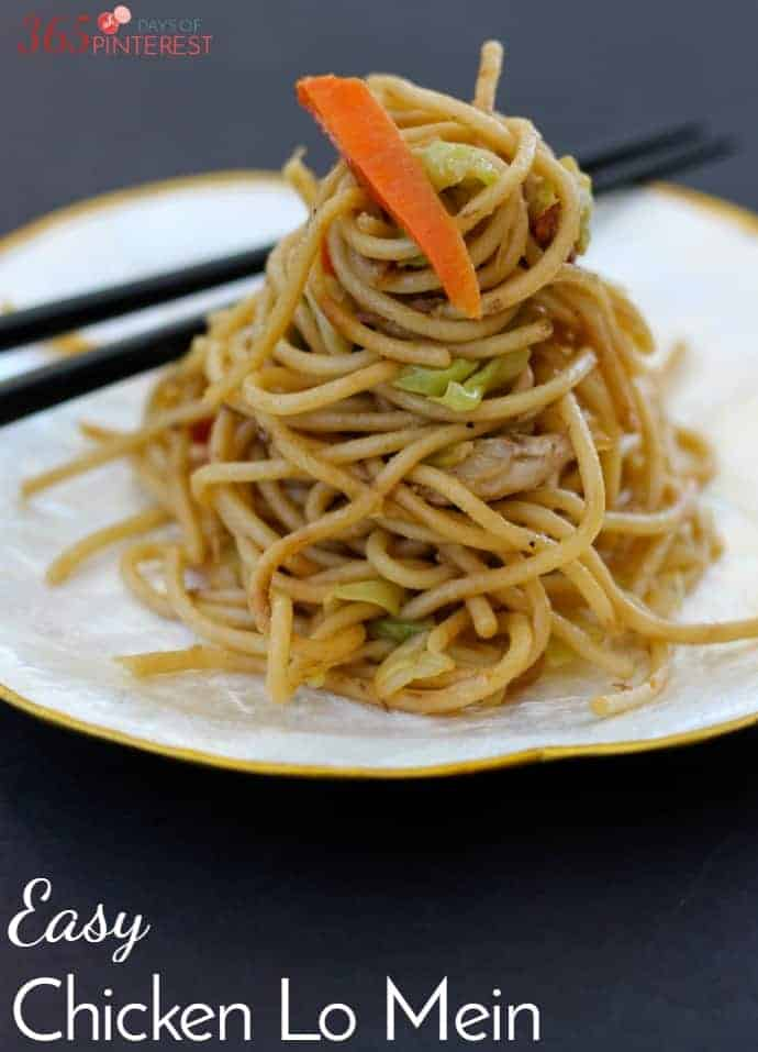 Easy Chicken Lo Mein - Simple and Seasonal