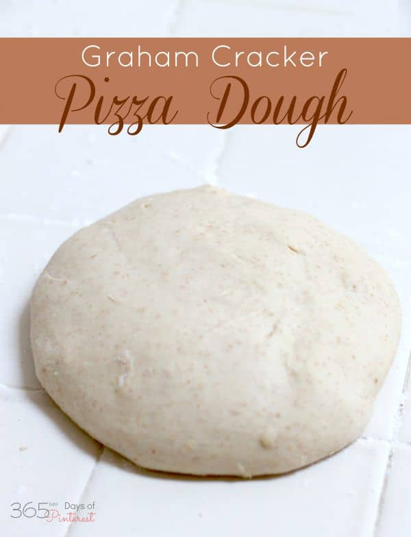 Make the perfect dessert pizza from scratch using this easy graham cracker pizza dough!