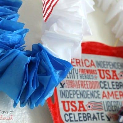 Easy Ruffled Tissue Paper Garland