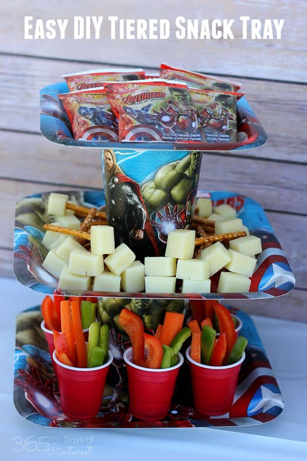 Easy DIY tiered snack tray