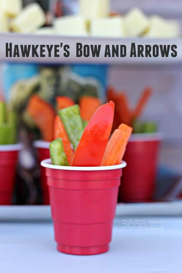 Hawkeye's bow and arrows