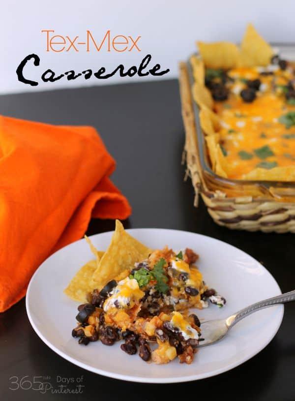 tex-mex cheesy casserole