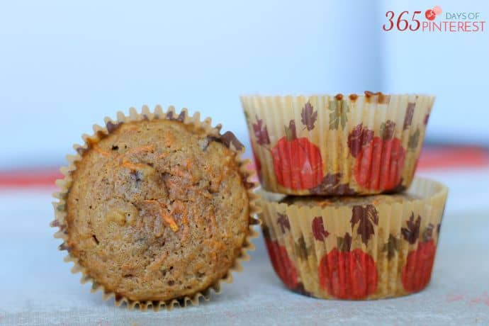 carrot raisin muffins wide