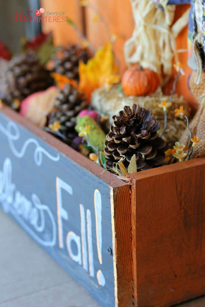 fall mantel box blog