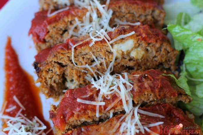 Italian meatloaf with mozzarella blog