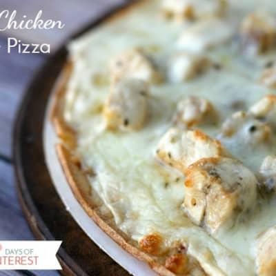 Garlic Chicken White Pizza