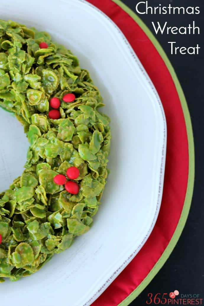 Christmas cornflake wreath