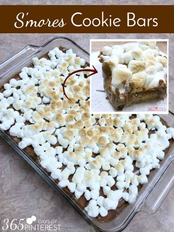S'mores Cookie Bars dessert