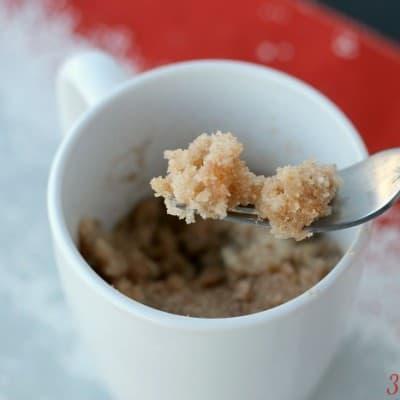 Snickerdoodle Mug Cake: 90 second microwave recipe