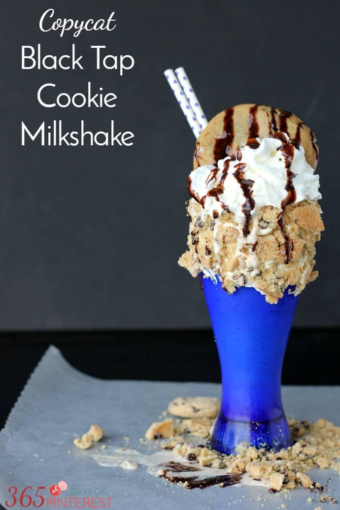copycat Black Tap cookie milkshake