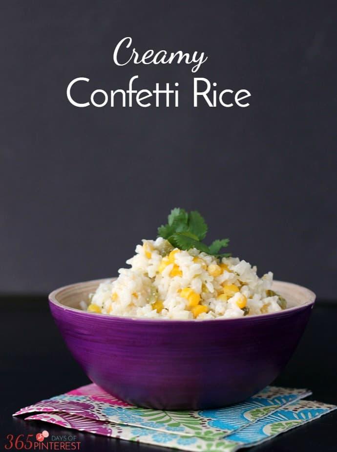 Creamy Confetti Rice long