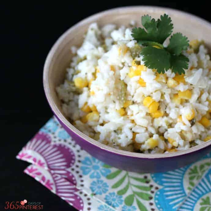 creamy confetti rice