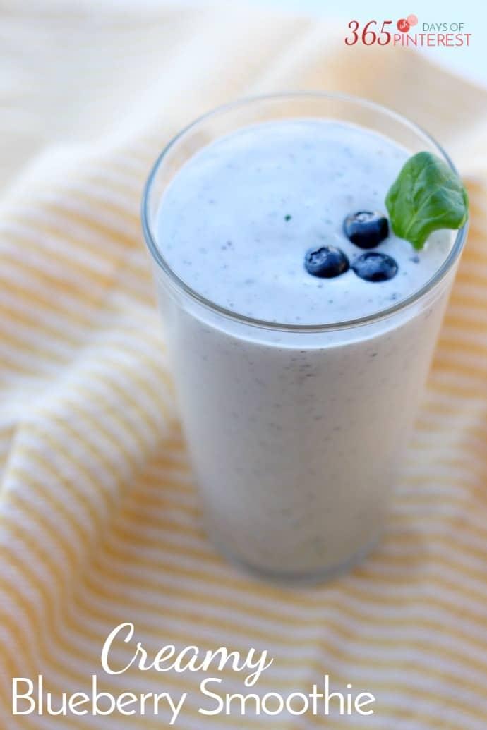 creamy blueberry smoothie
