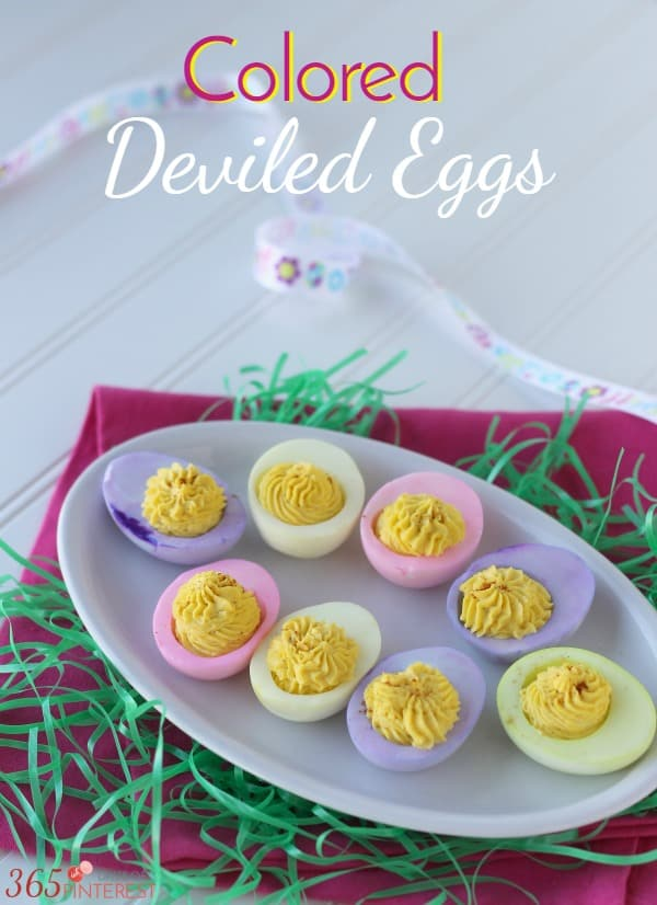 Colored Deviled Eggs for Easter resized