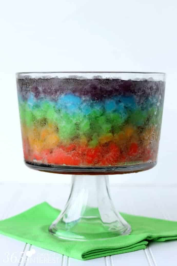 rainbow slush punch with soda