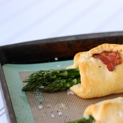 Bacon Wrapped Asparagus Puffs