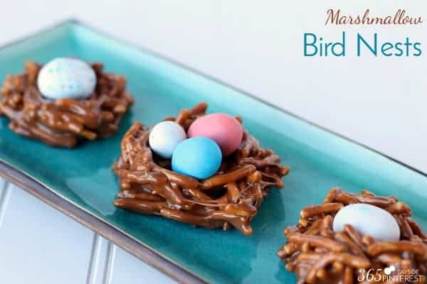 marshmallow bird nests