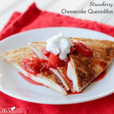 Cheesecake Quesadillas