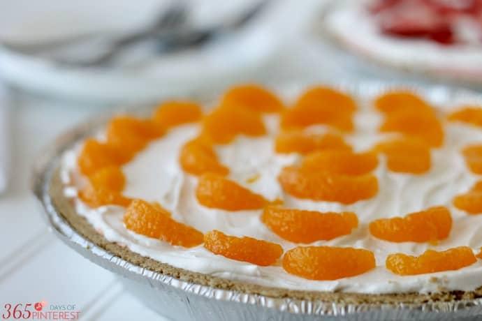 orange creamsicle pie closeup