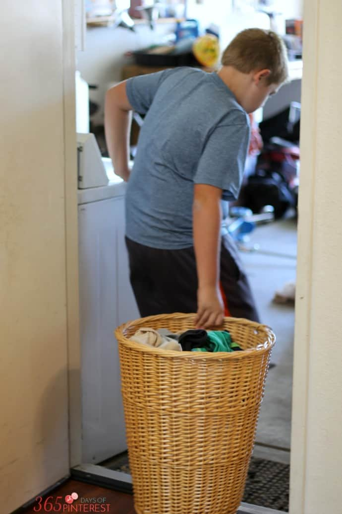 Bryce doing laundry
