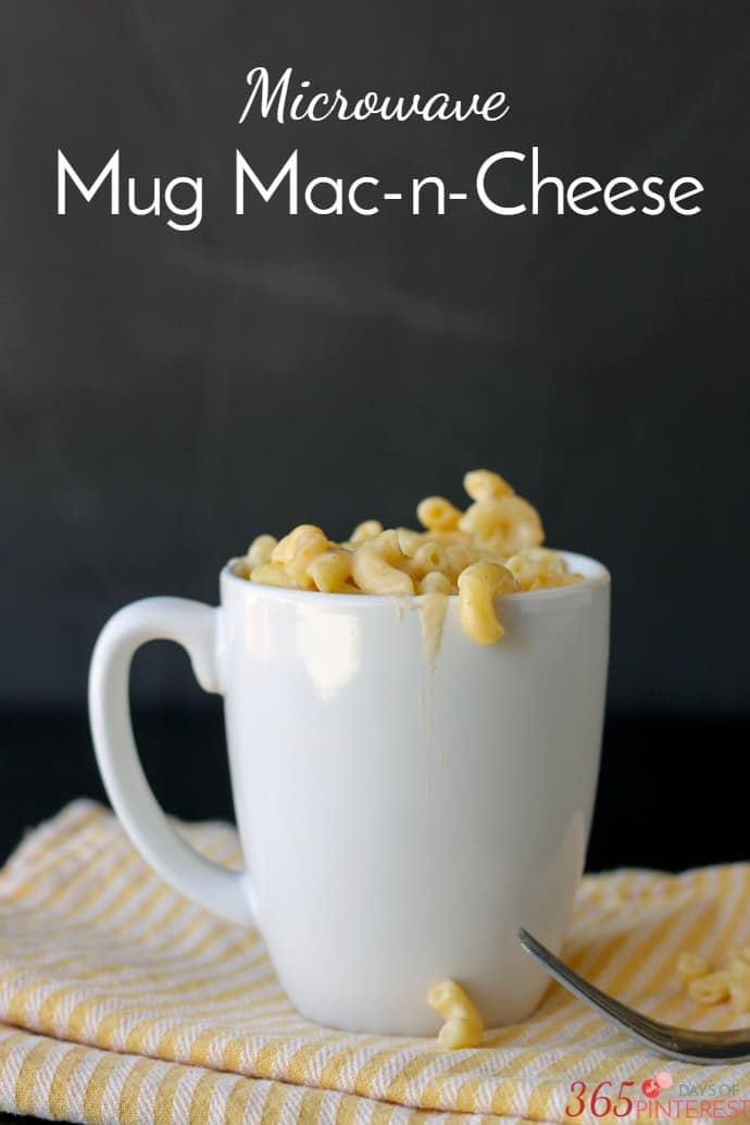 Mug mac and cheese labeled
