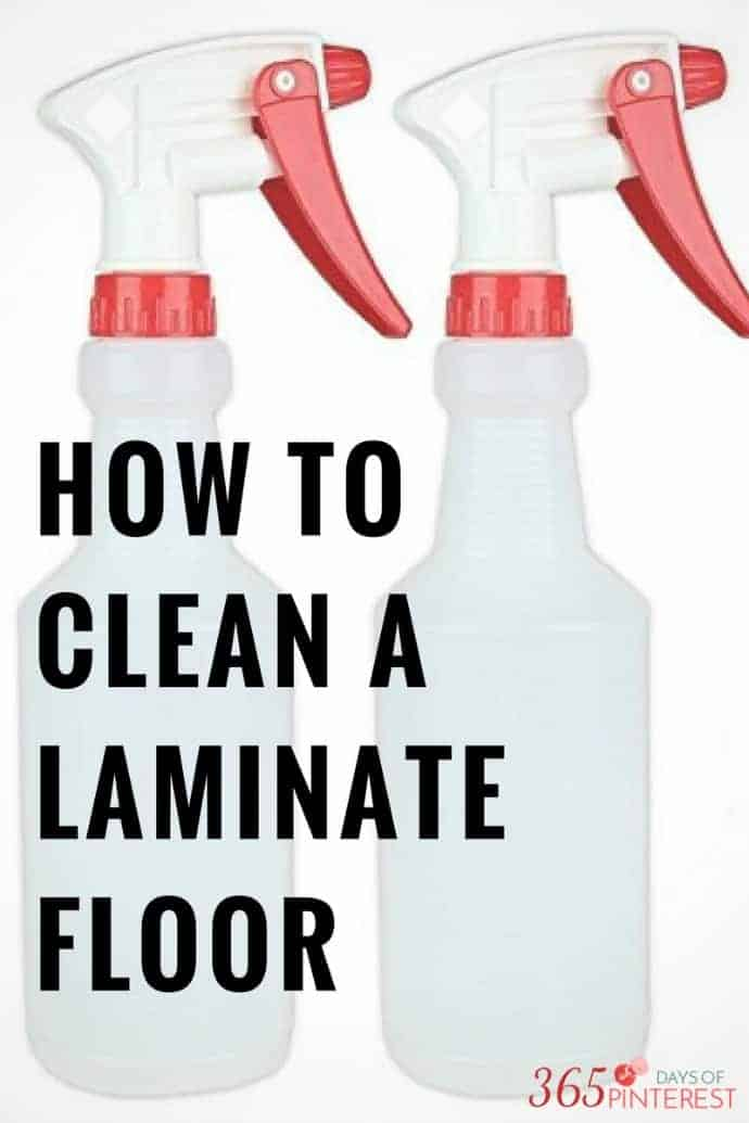how to clean a wood laminate floor