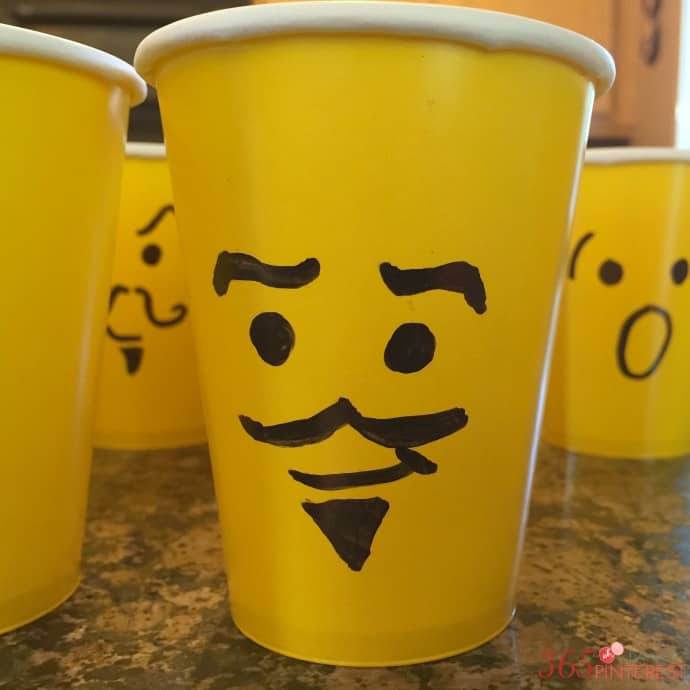 lego mini figure cup heads