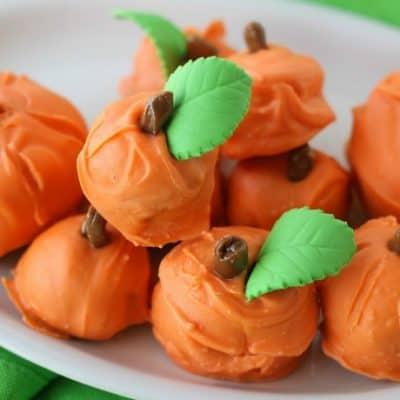 Cake Ball Pumpkins