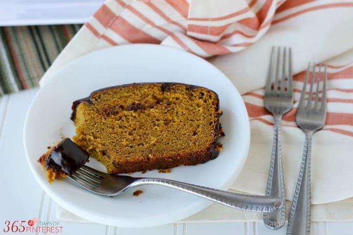 pumpkin bread slice