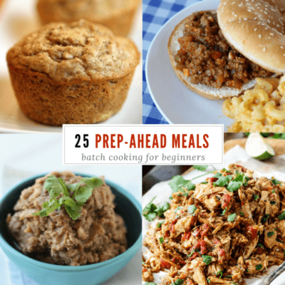 Meal Prep Menu: batch cooking for beginners