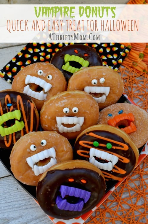 vampire-donuts-a-quick-and-easy-treat-for-halloween-last-minute-halloween-party-food-easy-halloween-recipes-desserts-for-halloween-parties