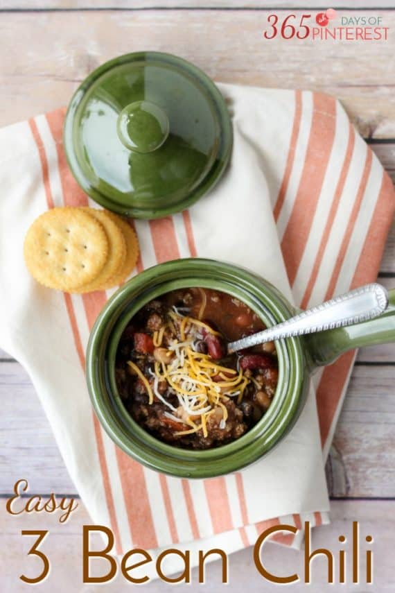 Cooler weather calls for hearty and comforting meals like this Three Bean Chili. With limited prep required, it's a perfect meal for a busy weeknight!