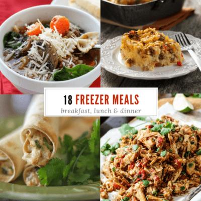 Lasagna Soup (and 17 other freezer meals)