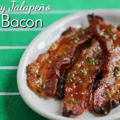 Honey Jalapeño Bacon: easy homegating snacks