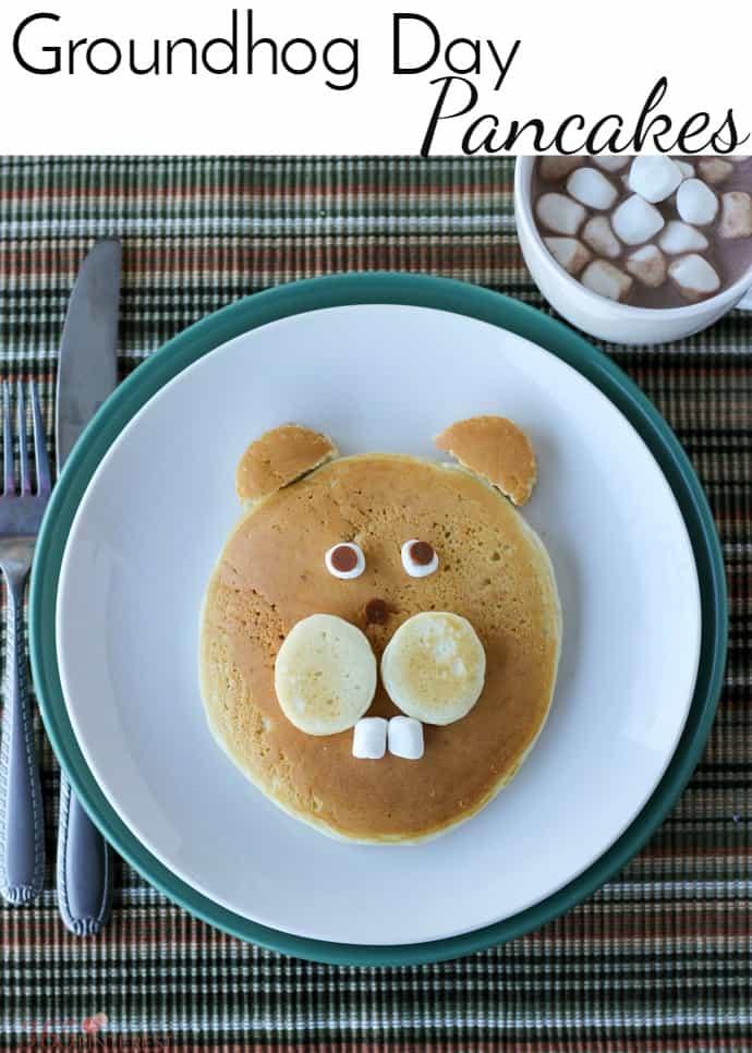 groundhog day pancakes pin