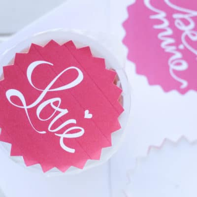 Fruit Cup Toppers: free Valentine's Day printable