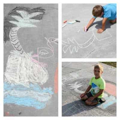 Easy Sidewalk Chalk Activities: summertime family fun