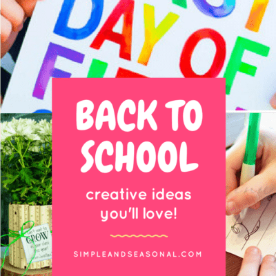 Creative Back to School Ideas