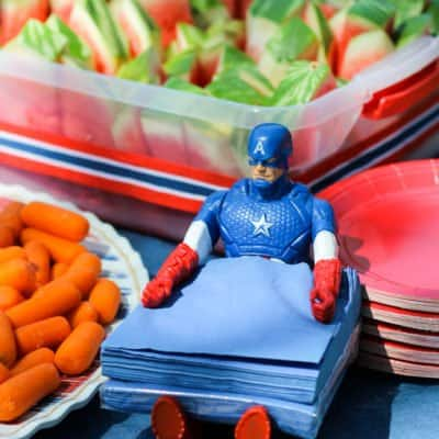 captain america napkin holder